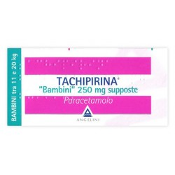TACHIPIRINA* Bambini (11-20 KG) 250 mg - 10 Supposte