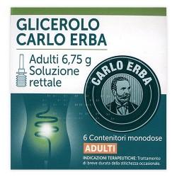 Glicerolo Carlo Erba 6 microclismi per adulti 6,75 g