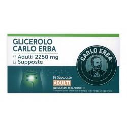 Glicerolo Carlo Erba 18 supposte per adulti 2.250 mg