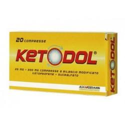Ketodol 25 mg + 200 mg 20 compresse a rilascio modificato