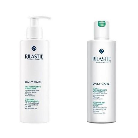 Rilastil Daily Care Gel Detergente Purificante + Tonico Astringente SPECIAL PROMO