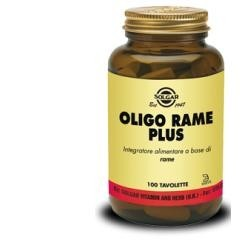 Solgar Oligo Rame Plus integratore antiossidante 100 tavolette