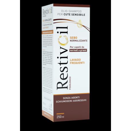 Restivoil Fisiologico 250ml - Shampoo Sebonormalizzante per Capelli Normali e Grassi