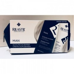 Rilastil Man Barba Pochette - Kit per la Rasatura con Schiuma da Barba + Crema Dopo Barba