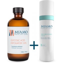 Miamo Kit Macchie Della Pelle - Glycolic Acid Exfoliator 3,8% + Triple Brightening Cream