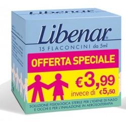 Libenar Soluzione fisiologica sterile 15 flaconcini 5ml