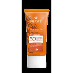Rilastil Sun System Tattoo 50+ Protezione Solare per Pelle Tatuata 75 ml