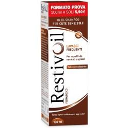 Restivoil Fisiologico 100ml - Shampoo Sebonormalizzante per Capelli Normali e Grassi
