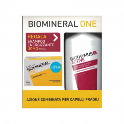 Kit Capelli Fragili Biomineral One 30 cpr + Biothymus AC Active Shampoo