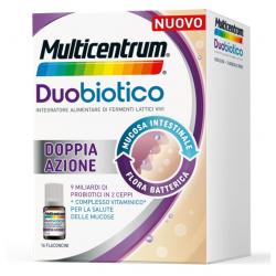 Multicentrum Duobiotico Integratore di Fermenti Lattici Vivi e Vitamine 16 Flaconcini