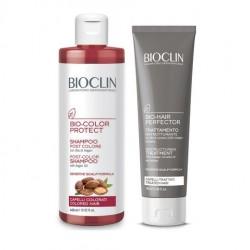 Bioclin Trattamento Capelli Colorati e Trattati - Shampoo Post Colore e Maschera Ristrutturante