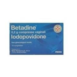 Betadine 200 mg 10 compresse vaginali