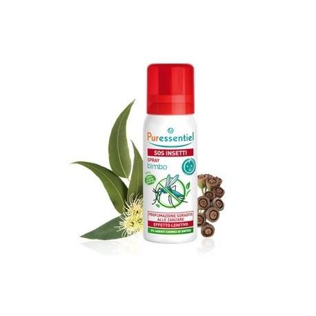 Puressentiel SOS Insetti Bimbo- Spray antipuntura repellente e lenitivo per bambini 60ml