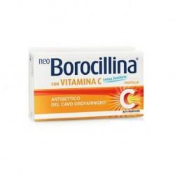 Neo Borocillina 1,2 + 70 mg 16 pastiglie con vitamina C senza zucchero