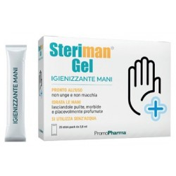 Steriman - Gel igienizzante mani 20 bustine monodose
