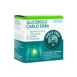Glicerolo Carlo Erba Bambini 2,25 g 6 contenitori soluzione rettale
