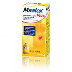 Maalox Plus 4% + 3,5% + 0,5% sospensione orale aroma di limone 200ml