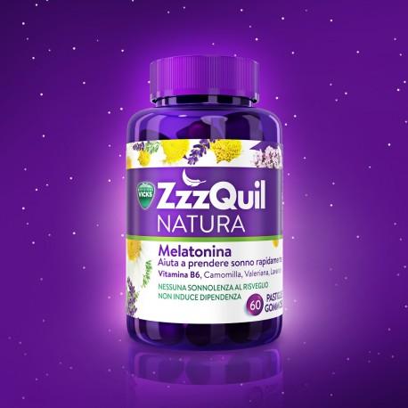 ZzzQuil Natura integratore per favorire il sonno con melatonina - 60 pastiglie gommose