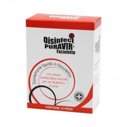 Disinfect Puravir - Fazzoletti disinfettanti contro virus e batteri 10 pezzi
