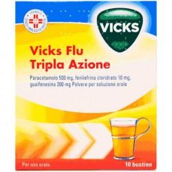 Vicks Flu Tripla Azione polvere per soluzione orale 10 bustine
