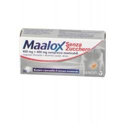 Maalox 30 compresse masticabili 400 mg + 400 mg senza zucchero aroma limone