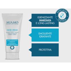 Miamo Hand Cream - Crema mani igienizzante, emolliente e protettiva con argento igienizzante 50 ml