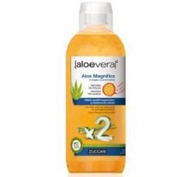 Zuccari Aloe Vera Magnifica con edulcorante succo a doppia concentrazione in bottiglia da 1 litro