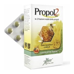 Aboca Propol2 EMF Bambini - Integratore per le difese immunitarie 45 tavolette gusto fragola e miele