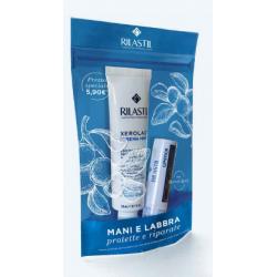 Rilastil Kit Mani e Labbra - Crema mani riparatrice e stick labbra