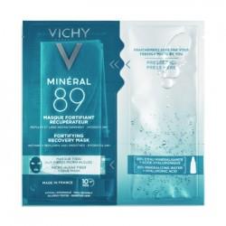 Vichy Mineral 89 maschera viso in tessuto riparatrice pelle sensibile 29 g