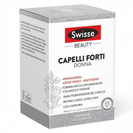 Swisse Capelli Forti Donna 30 compresse - Integratore per capelli con cheratina
