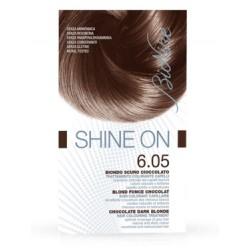 BioNike Shine On tinta permanente capelli 6.05 Biondo scuro cioccolato flacone 75 ml + tubo 50 ml