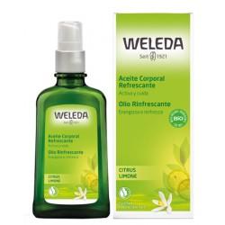 Weleda Olio corpo Limone rinfrescante per massaggi tonificanti 100 ml