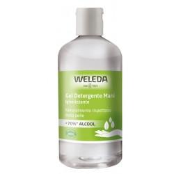 Weleda Gel detergente igienizzante mani 70% alcol ingredienti BIO 250 ml
