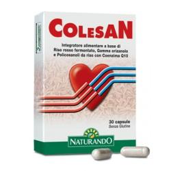 Naturando Colesan integratore di riso rosso per il colesterolo 30 capsule