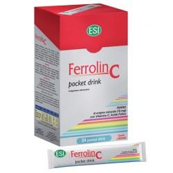 ESI Ferrolin C integratore con ferro vitamina C e acido folico 24 pocket drink 20 ml