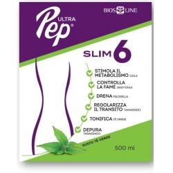 Bios Line Ultra Pep Slim 6 - Inetgratore dimagrante e drenante al The verde 500 ml