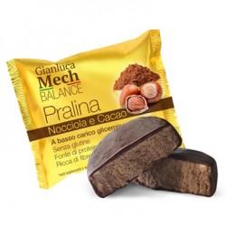Tisanoreica Praline dietetiche alla nocciola e cacao ricoperte di cioccolato fondente 20 pezzi
