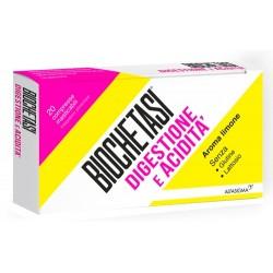 Biochetasi Digestione e Acidità integratore digestivo 20 compresse masticabili aroma limone