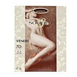 Solidea Venere Collant 70 den tuttonudo compressivo a maglia liscia tg. 3 sabbia