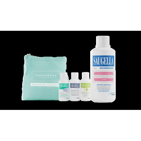 Saugella Dermoliquido Blu 500ml + pochette omaggio - Detergente Intimo con ph 3.5