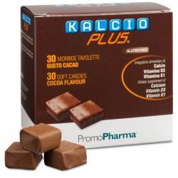 Kalcio Plus integratore di calcio in morbide tavolette gusto cacao 30 pezzi