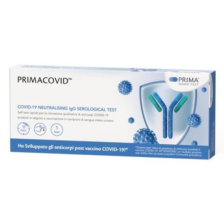 Primacovid Test rapido per misurare gli anticorpi neutralizzanti dopo il vaccino per il covid 1 pezzo