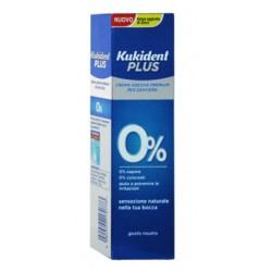Kukident Plus 0% adesivo per dentiera senza sapore e coloranti 40 g