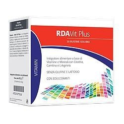 RDA Vit Plus 20 Bustine - Integratore Multivitaminico con Creatina