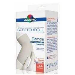 M-AID Stretchroll Benda Elastica Autobloccante per Medicazioni 8x400cm