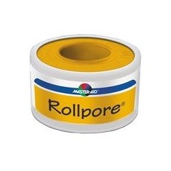 M-AID Rollpore Cerotto su Rocchetto per Fissaggio Medicazioni 5mx1,25cm
