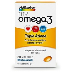 Multicentrum MyOmega3 60 Mini Perle - Integratore Antiossidante