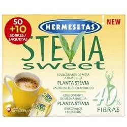 SteviaSweet Hermesetas Dolcificante a Base di Stevia 50 + 10 Bustine