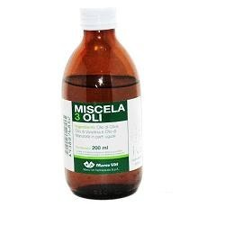 Miscela 3 oli 200 ml - miscela di oli idratanti ed emollienti per la pelle